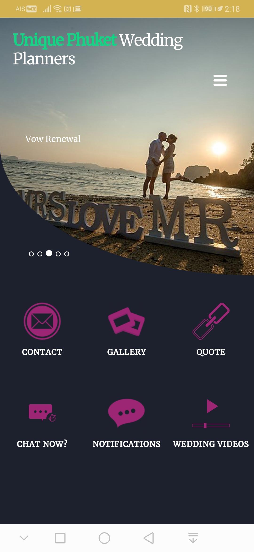 Unique Phuket Wedding Planners Business Connication App